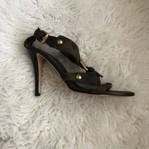 Guiseppe Zanotti Camo Slingback Sandals